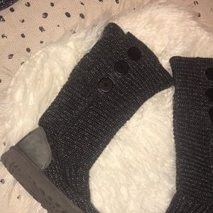 Ugg metallic classic cardy knit boots